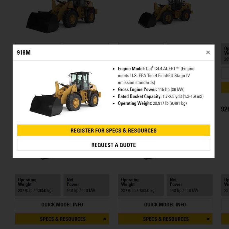 Cat Resource Center Specs & Resources