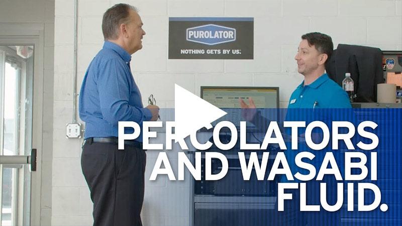 Video: Percolators and Wasabi Fluid