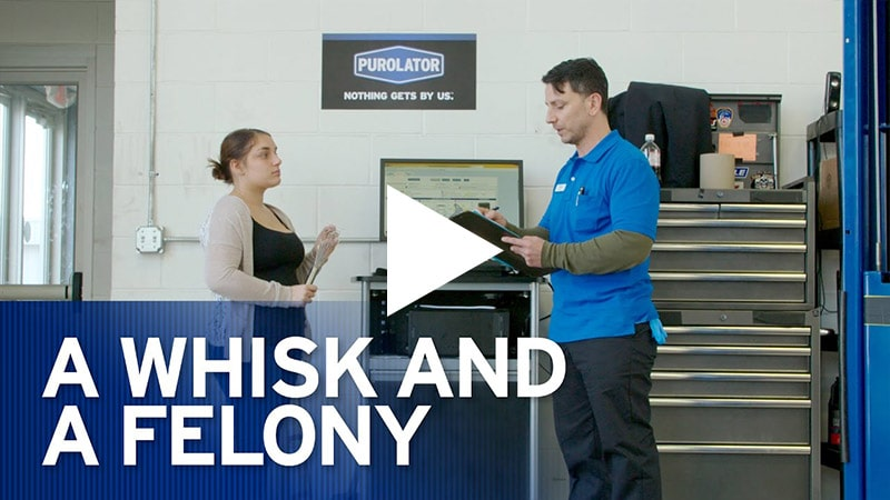Video: A Whisk and a Felony