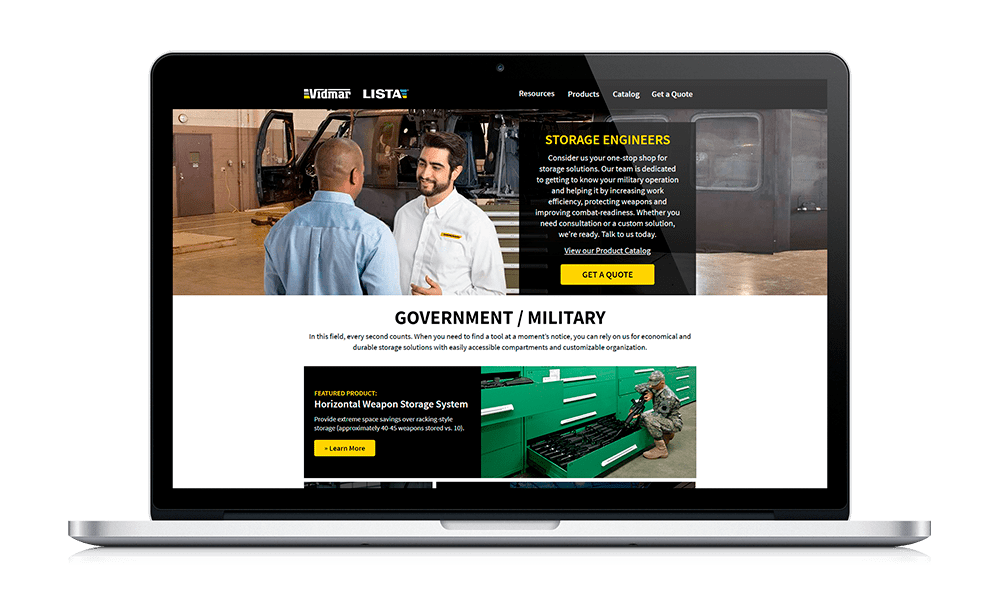 Government landing page example